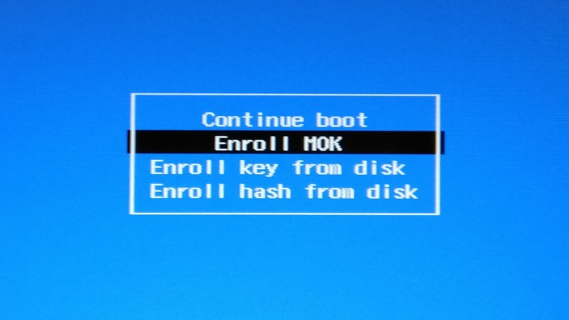 enroll MOK secure boot