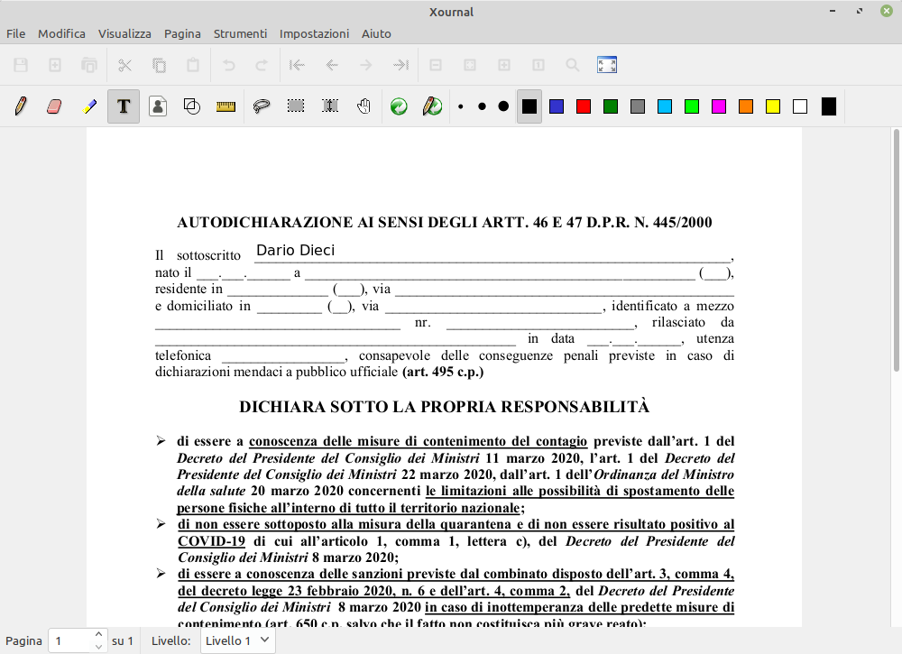 annotare pdf in linux con xournal