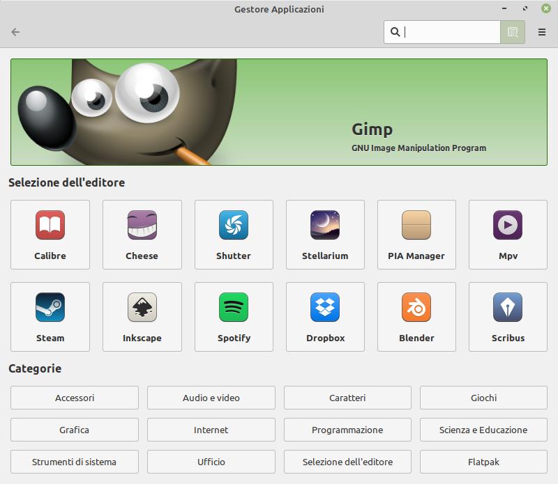 Gestore Applicazioni in Linux Mint