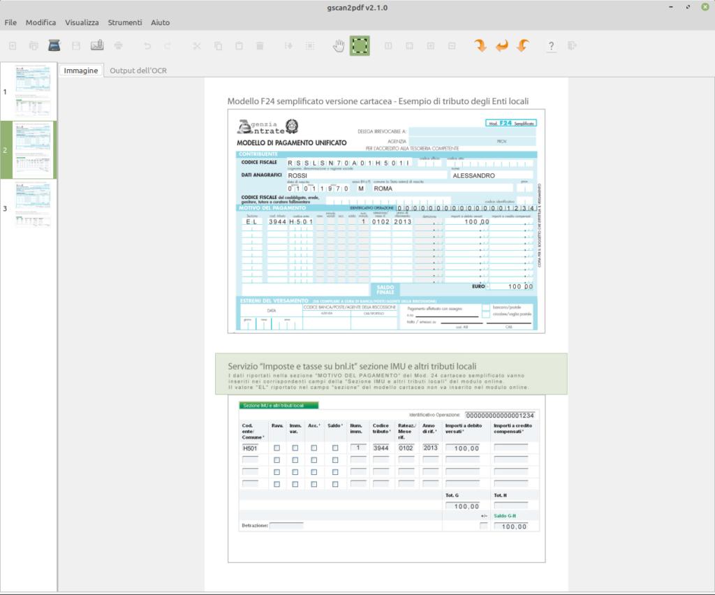 unire immagini in pdf e gestire scansioni con gscan2pdf