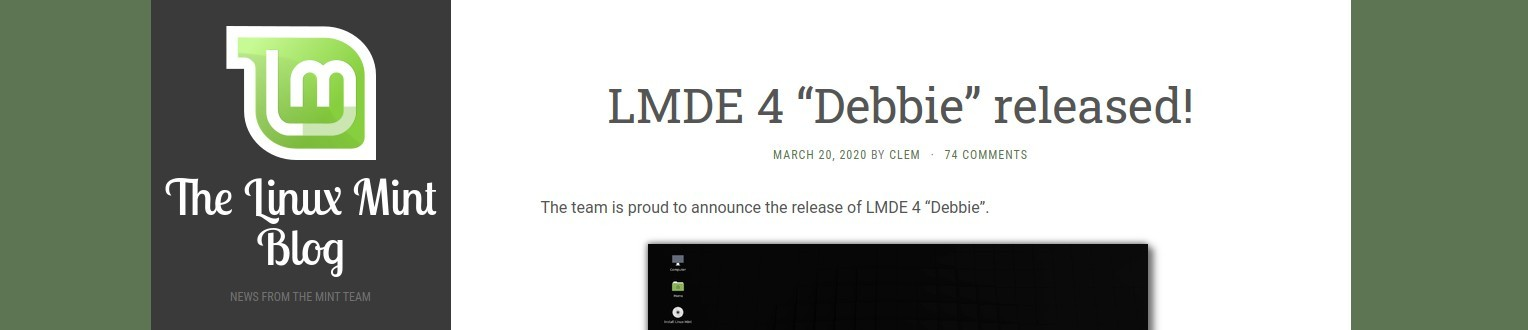 Linux Mint Blog: LMDE rilasciata