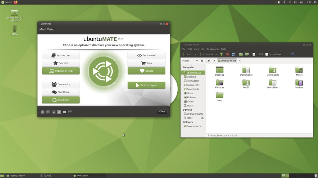Schermata di Ubuntu MATE 20.04 LTS