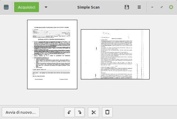 rotazione di una pagina in simple scan