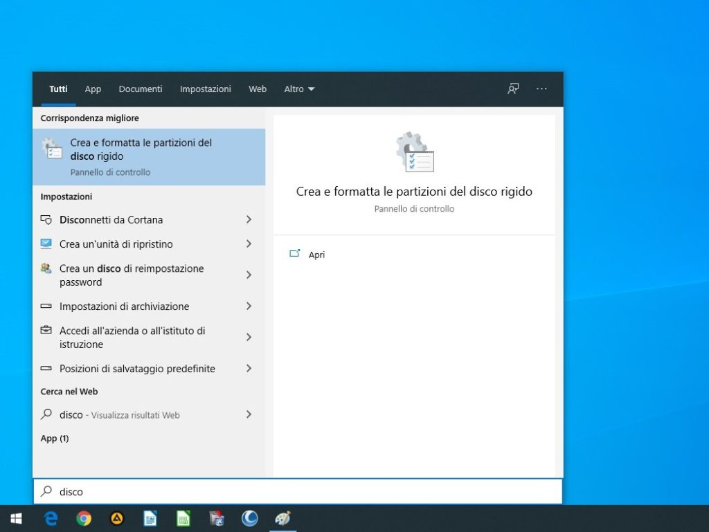 Preparare installazione di Linux Mint insieme a Windows. Avvio di Gestione Disco