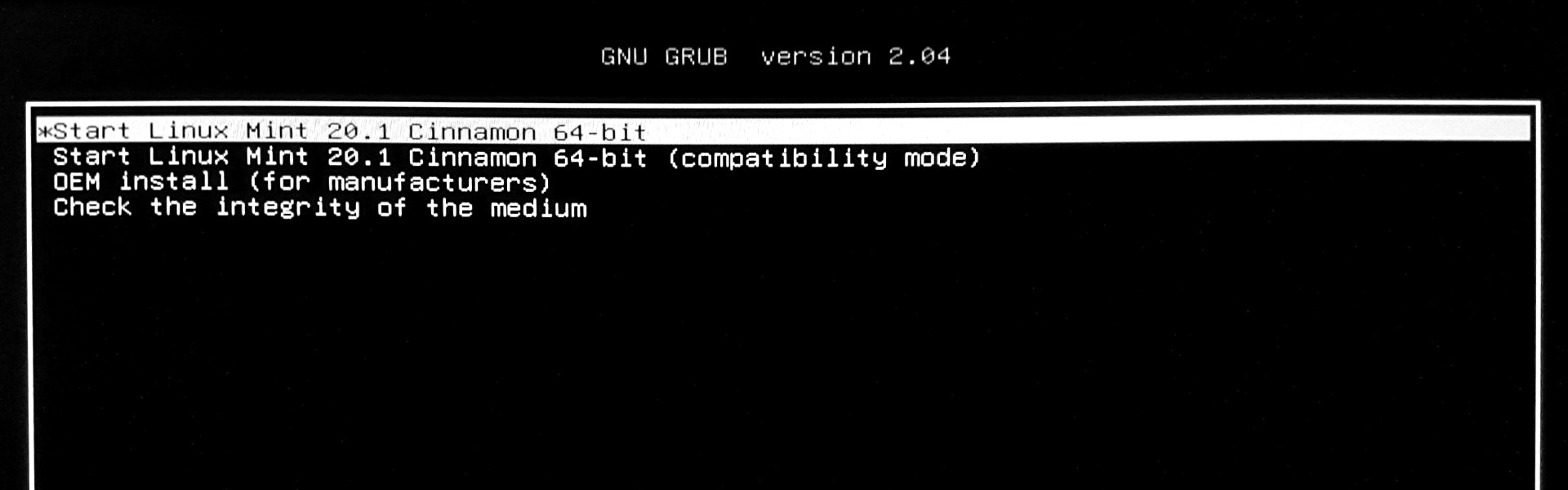 installazione linux mint 20.1 ulyssa grub