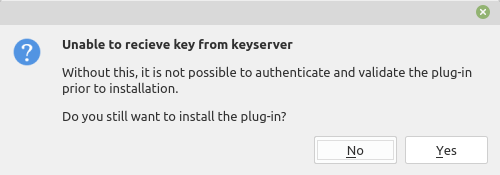 unable to recieve key from keyserver in  Linux Mint e Ubuntu