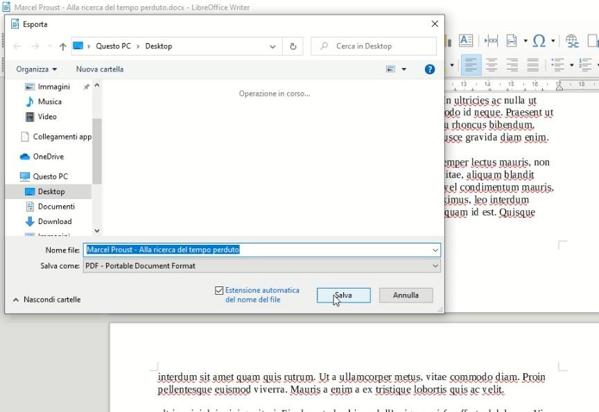 LibreOffice Writer in Windows 10