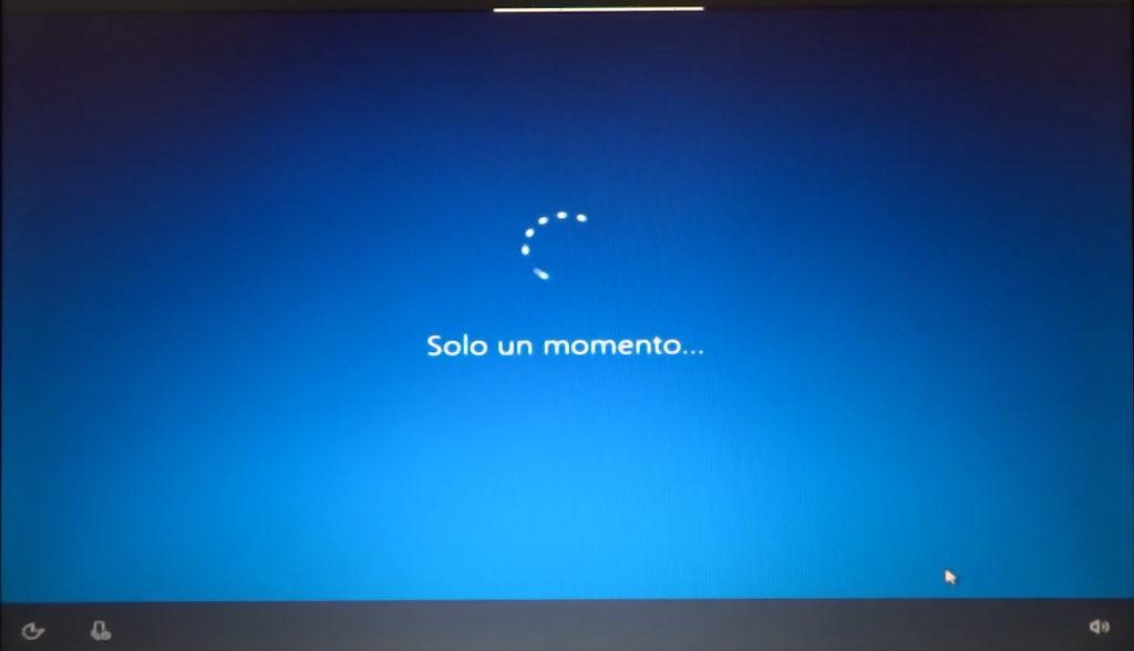 installazione Windows: solo un momento...