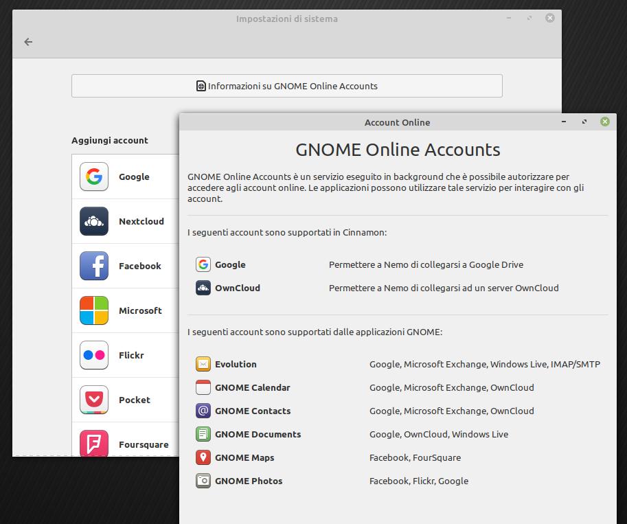 GNOME online accounts