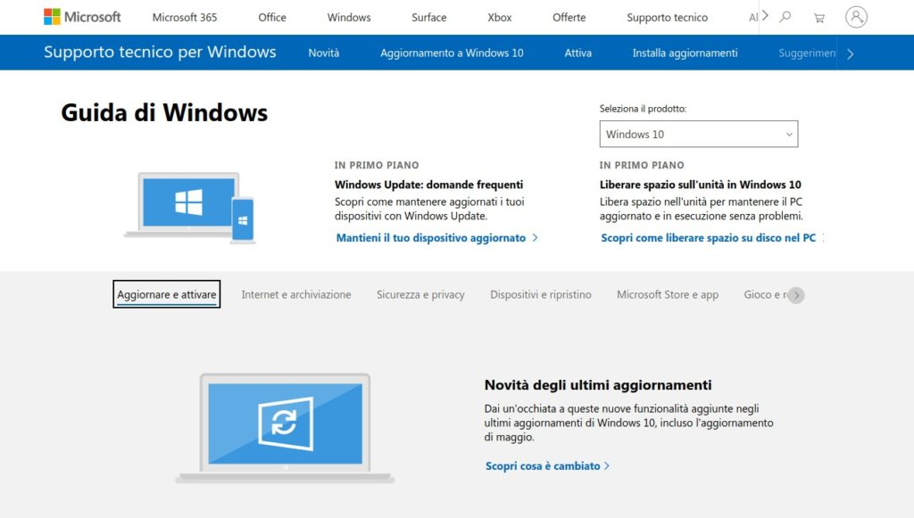 guida Windows ufficiale