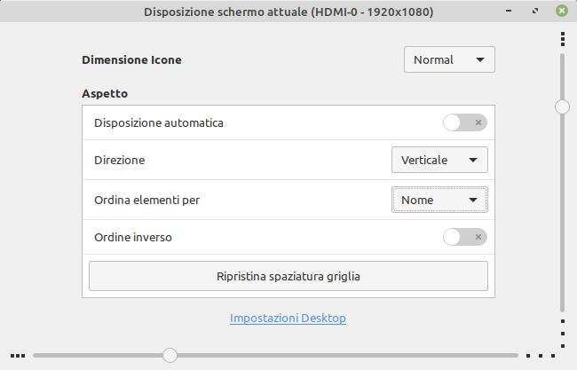 personalizzazione desktop Linux Mint