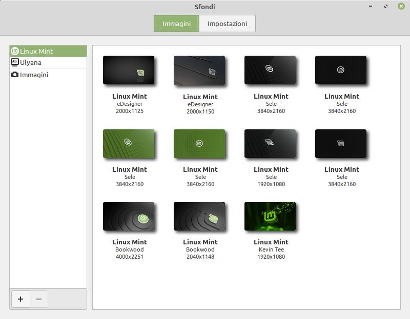 cambiare sfondo in Linux Mint 20