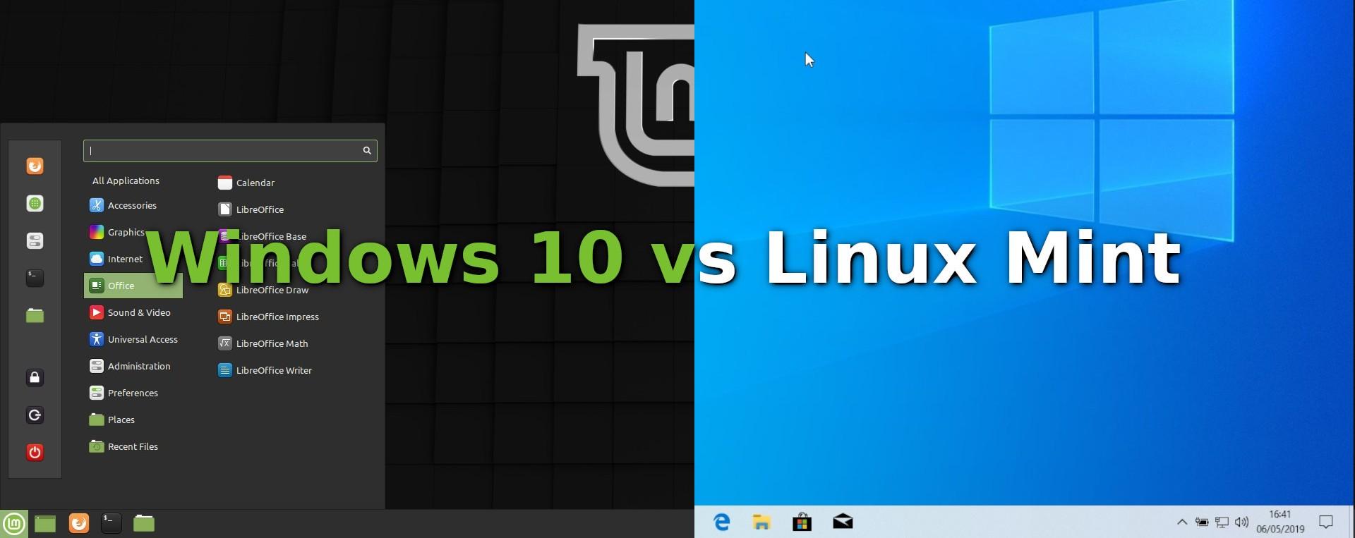 Windows 10 vs Linux Mint