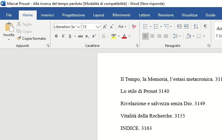 Microsoft Word non risponde