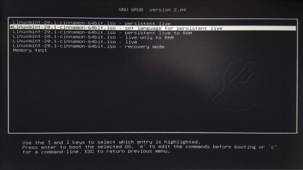 mkusb avvio live usb persistente linux