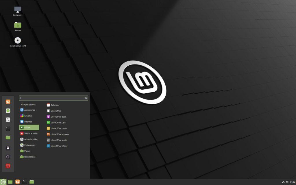 Il desktop di Linux Mint 20 Ulyana Cinnamon
