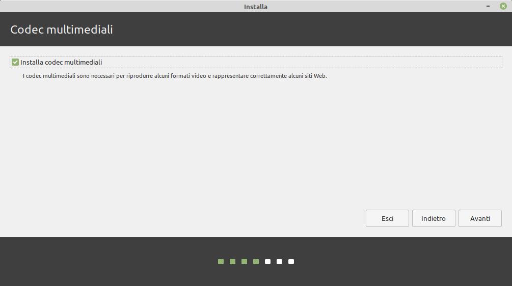 codec multimediali: installazione di linux mint 20