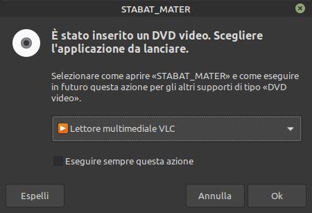 inserimento dvd Linux Mint