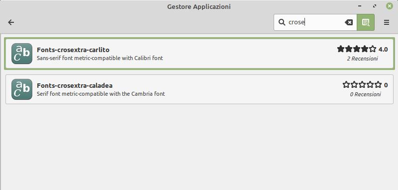 carlito e caladea per Linux Mint