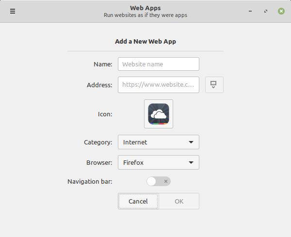 Aggiunta di una Web App