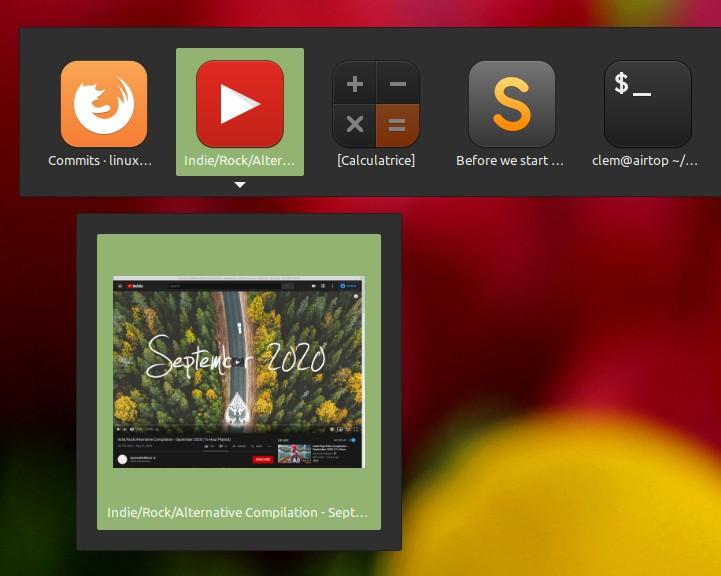 Atl+TAB tra Web App in Linux Mint