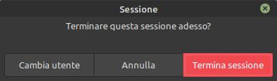 cambio sessione  utente in Linux MInt