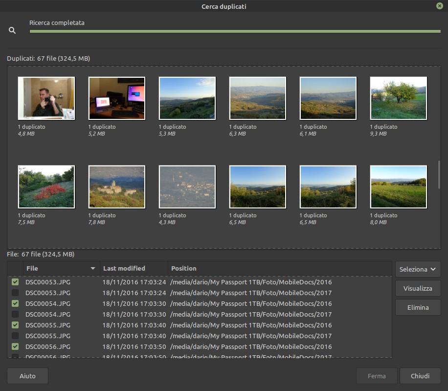 elimina file doppioni più nuovi con Pix
