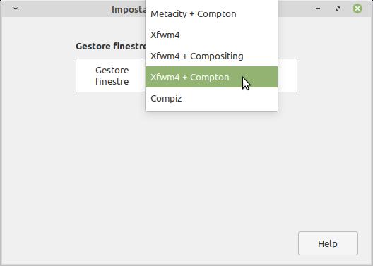 gestore finestre Linux Mint Xfce