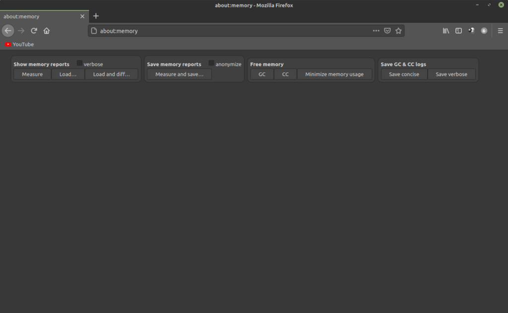 minimizzare l'utilizzo di RAM di Firefox in Linux Mint