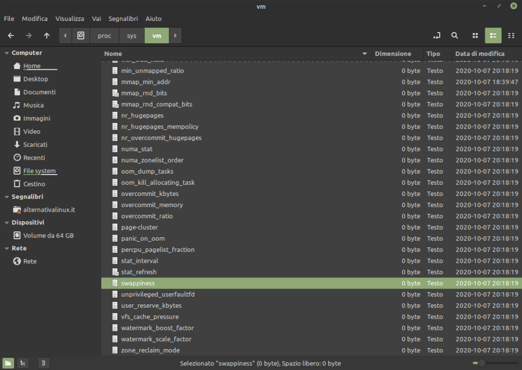 swappiness in Linux Mint