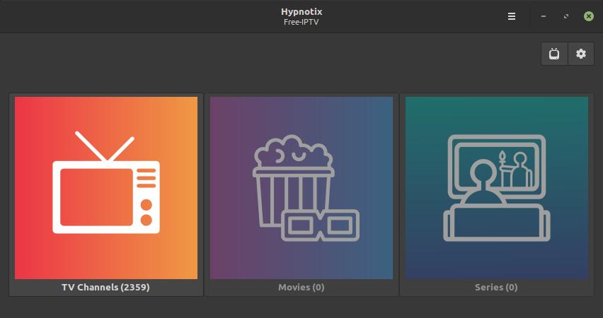 Hypnotix IPTv Linux Mint 20.1 Ulyssa
