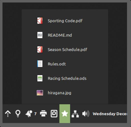 icona applet preferiti Linux Mint 20.1 Cinnamon