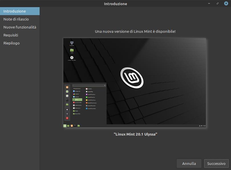 nuova versione di Linux Mint disponibile