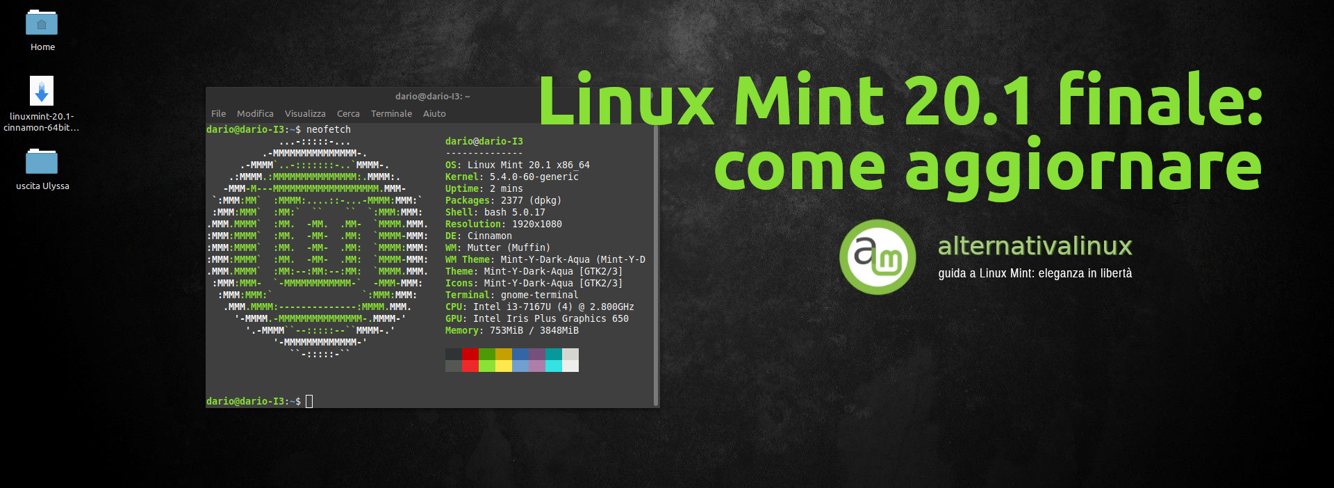 uscita linux mint 20.1 come aggiornare