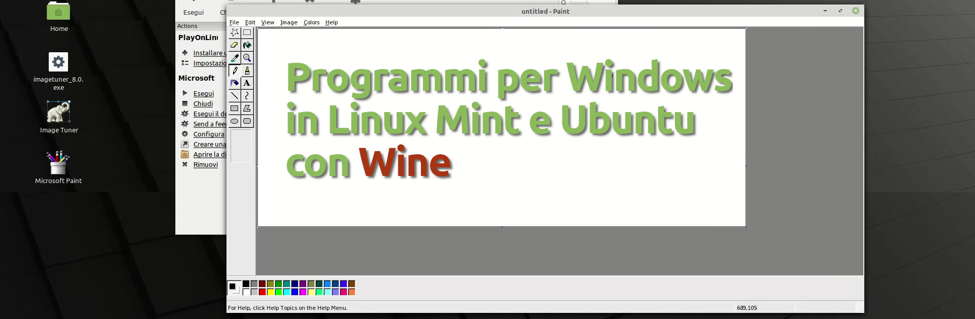 programmi windows in linux mint 20 e ubuntu con wine