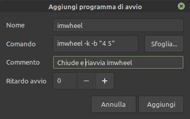 avvio automatico imwheel linux mint e ubuntu