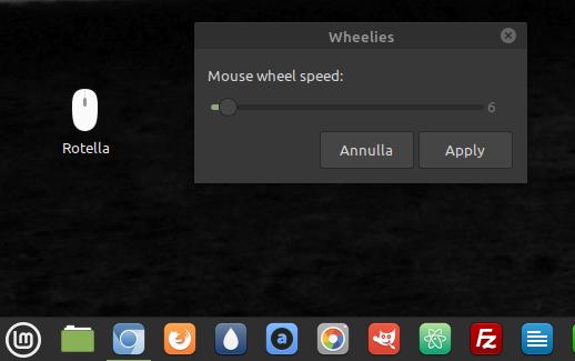 impostazioni mousewheel.sh linux ubuntu rotella