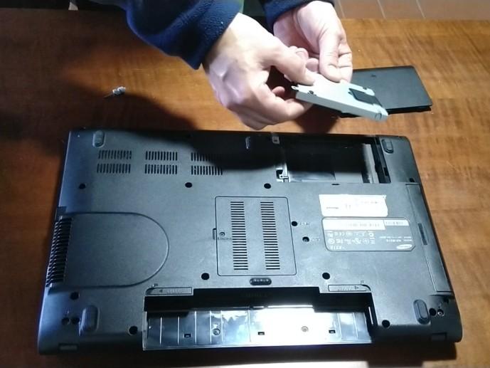 sostituzione hard-disk notebook Samsung R519