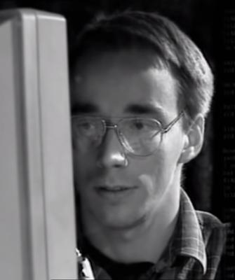 Il giovane Linus Torvalds