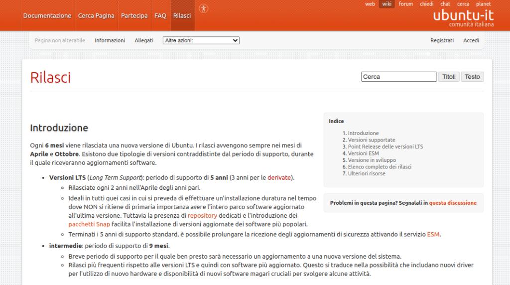 modalità di rilascio di nuove versioni di Ubuntu