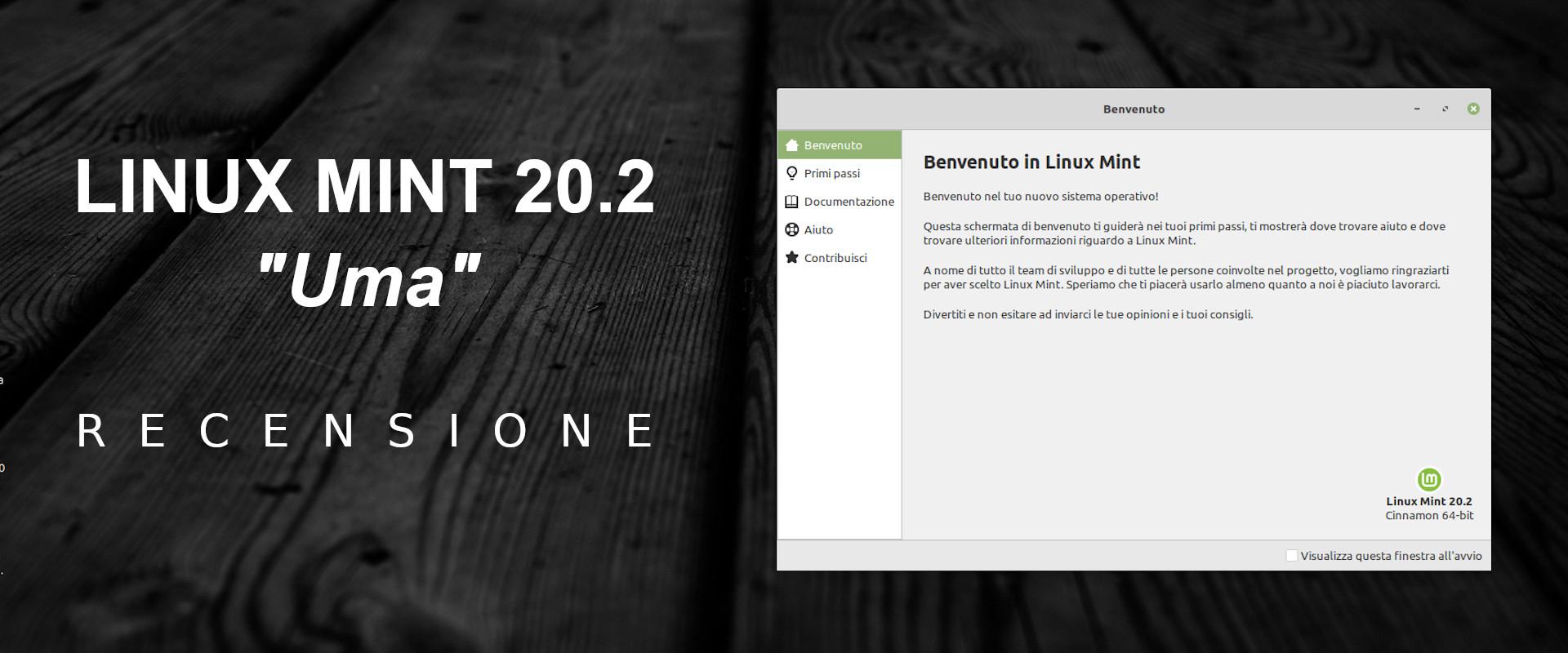recensione Linux Mint 20.2 Uma copertina