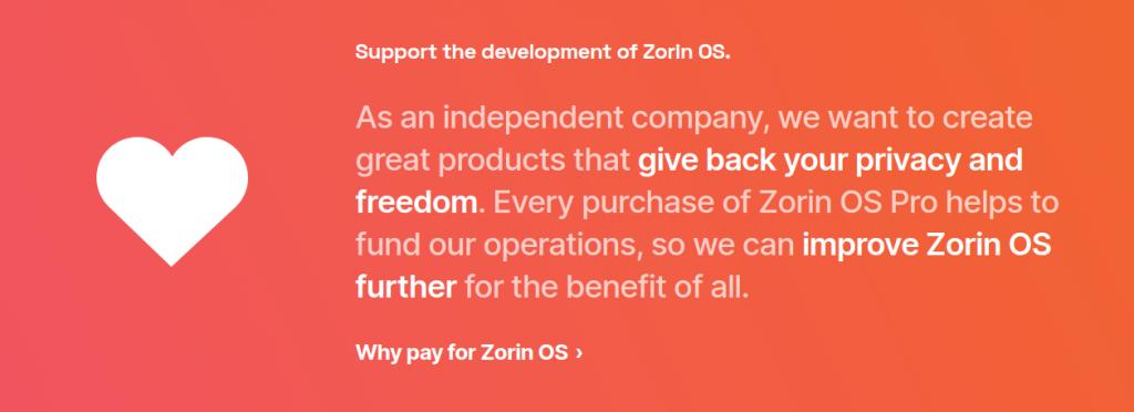 perchè pagare per Zorin OS
